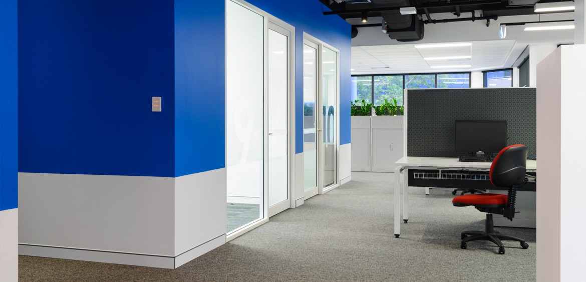 United Voice offices, view to meeting rooms