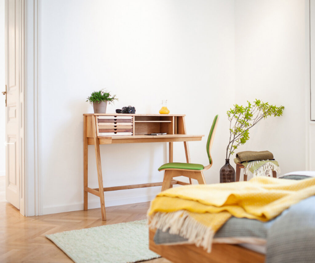 create a home office in your bedroom