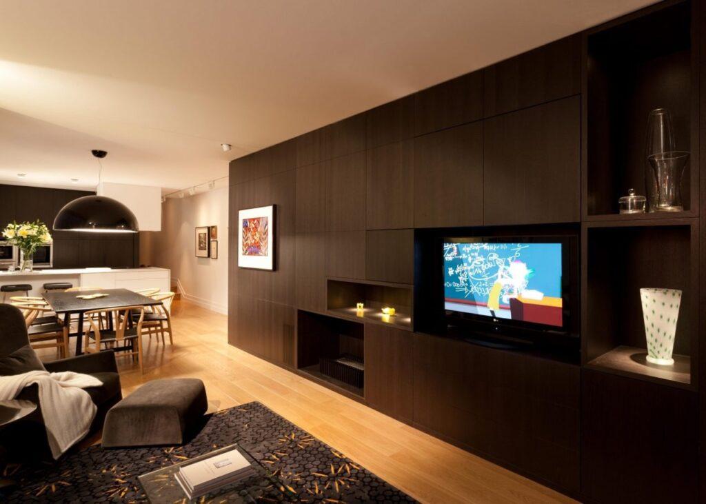 Haus Leytron Lounge area with Bemboka throw.