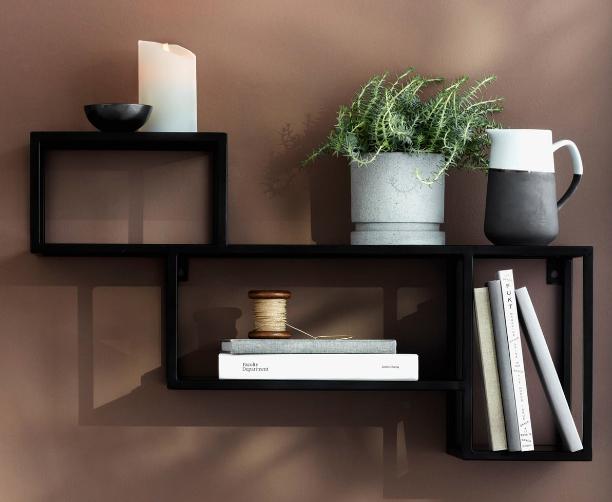 small fern on a bookshelf - plants in interior design